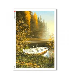VIEWS-0037. Carta di Riso paesaggi per decoupage