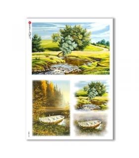 VIEWS-0038. Carta di Riso paesaggi per decoupage