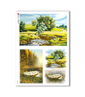 VIEWS-0038. Papel de Arroz paisajes para decoupage.