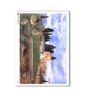 VIEWS-0048. Carta di Riso paesaggi per decoupage