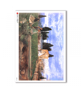 VIEWS-0048. Papel de Arroz paisajes para decoupage.