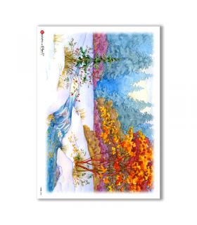 VIEWS-0058. Carta di Riso paesaggi per decoupage