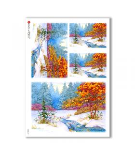 VIEWS-0059. Carta di Riso paesaggi per decoupage
