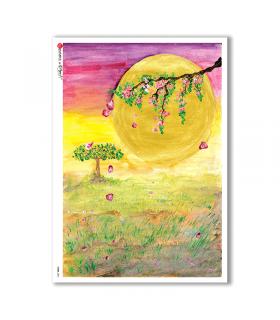VIEWS-0061. Carta di Riso paesaggi per decoupage