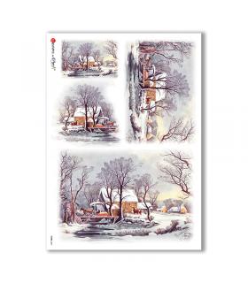 VIEWS-0067. Carta di Riso paesaggi per decoupage