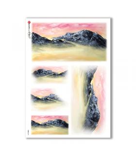 VIEWS-0071. Carta di Riso paesaggi per decoupage