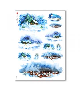 VIEWS-0077. Carta di Riso paesaggi per decoupage