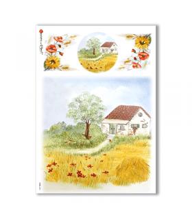 VIEWS-0082. Landscape Rice paper  for the decoupage.