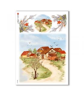 VIEWS-0083. Landscape Rice paper  for the decoupage.