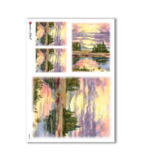 VIEWS-0093. Papel de Arroz paisajes para decoupage.