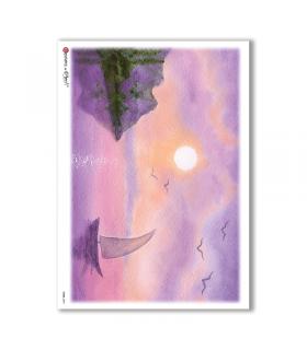 VIEWS-0096. Carta di Riso paesaggi per decoupage