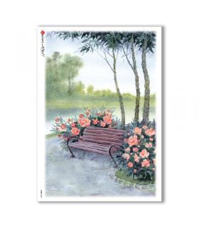 VIEWS-0098. Carta di Riso paesaggi per decoupage
