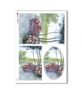 VIEWS-0099. Carta di Riso paesaggi per decoupage