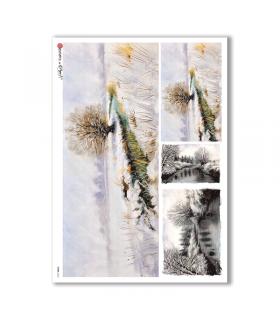 VIEWS-0106. Carta di Riso paesaggi per decoupage