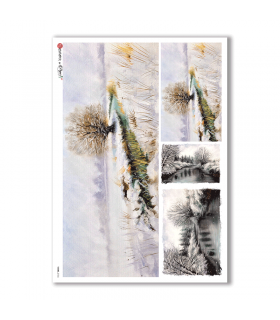 VIEWS-0106. Landscape Rice paper  for the decoupage.
