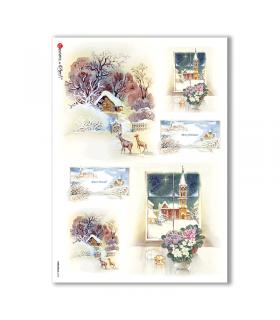 CHRISTMAS-0113. Papel de Arroz Navidad para decoupage.