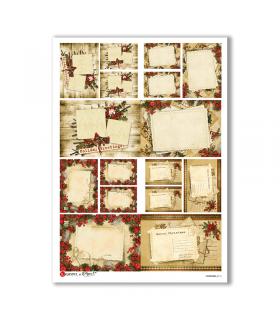 CHRISTMAS-0116. Carta di riso Natale per decoupage.