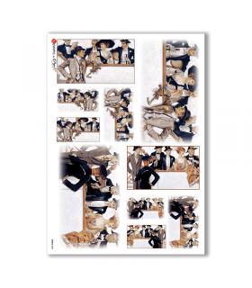 SCENE-0004. Carta di riso pittorico per decoupage.
