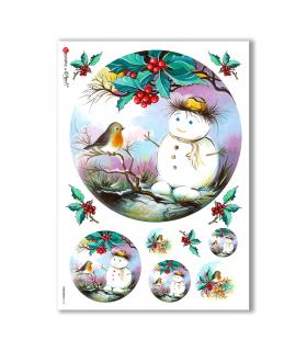 CHRISTMAS-0118. Papel de Arroz Navidad para decoupage.