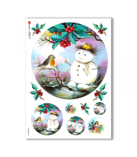 CHRISTMAS-0118. Christmas Rice Paper for decoupage.