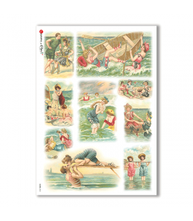 SCENE-0043. Pictorial Rice Paper for decoupage.