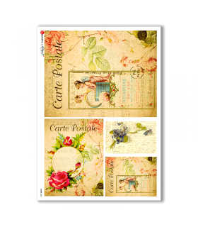 SCENE-0050. Pictorial Rice Paper for decoupage.