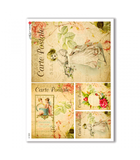 SCENE-0051. Pictorial Rice Paper for decoupage.