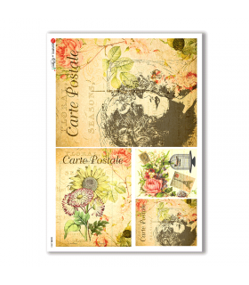 SCENE-0054. Pictorial Rice Paper for decoupage.