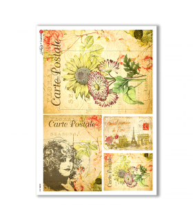 SCENE-0055. Pictorial Rice Paper for decoupage.