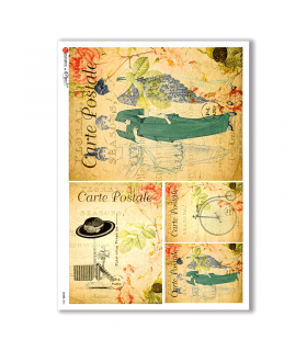 SCENE-0056. Pictorial Rice Paper for decoupage.