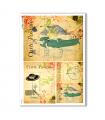 SCENE-0056. Carta di riso pittorico per decoupage.
