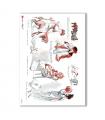 SCENE-0062. Carta di riso pittorico per decoupage.