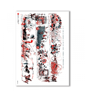 SCENE-0064. Papel de Arroz pictórico para decoupage.