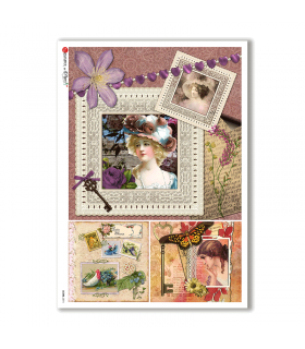SCENE-0074. Pictorial Rice Paper for decoupage.