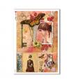 SCENE-0076. Carta di riso pittorico per decoupage.