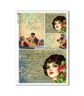 SCENE-0077. Pictorial Rice Paper for decoupage.