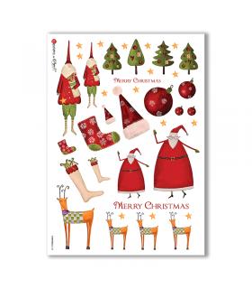 CHRISTMAS-0123. Papel de Arroz Navidad para decoupage.