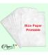 Printable rice paper