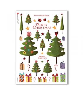 CHRISTMAS-0124. Papel de Arroz Navidad para decoupage.