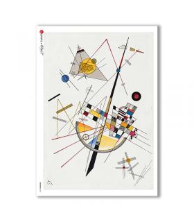 ARTWORK-0067. Carta di riso opere d'arte per decoupage.