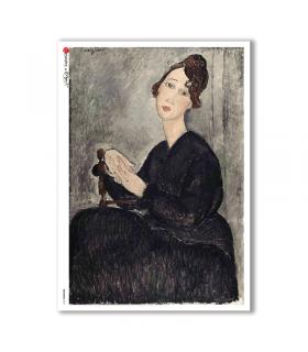 ARTWORK-0071. Carta di riso opere d'arte per decoupage.