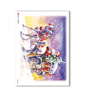 CHRISTMAS-0126. Carta di riso Natale per decoupage.