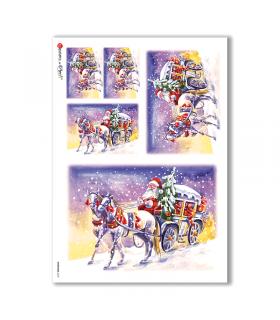 CHRISTMAS-0127. Christmas Rice Paper for decoupage.
