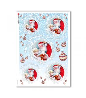 CHRISTMAS-0277. Papel de Arroz Navidad victoriano para decoupage.