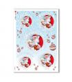 CHRISTMAS-0277. Carta di riso vittoriana Natale per decoupage.