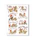 CHRISTMAS-0280. Carta di riso vittoriana Natale per decoupage.