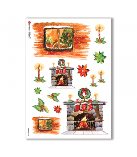 CHRISTMAS-0128. Papel de Arroz Navidad para decoupage.