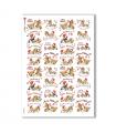 CHRISTMAS-0281. Carta di riso vittoriana Natale per decoupage.