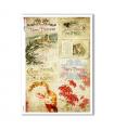 CHRISTMAS-0283. Carta di riso vittoriana Natale per decoupage.