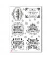 CHRISTMAS-0286. Carta di riso vittoriana Natale per decoupage.